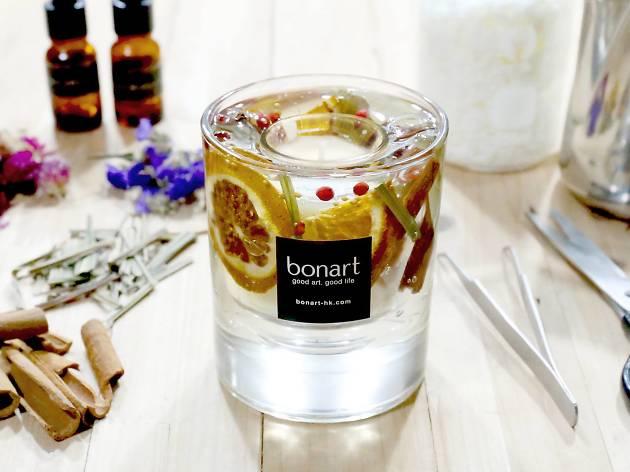 Bonart 透明乾花蠟燭工作坊