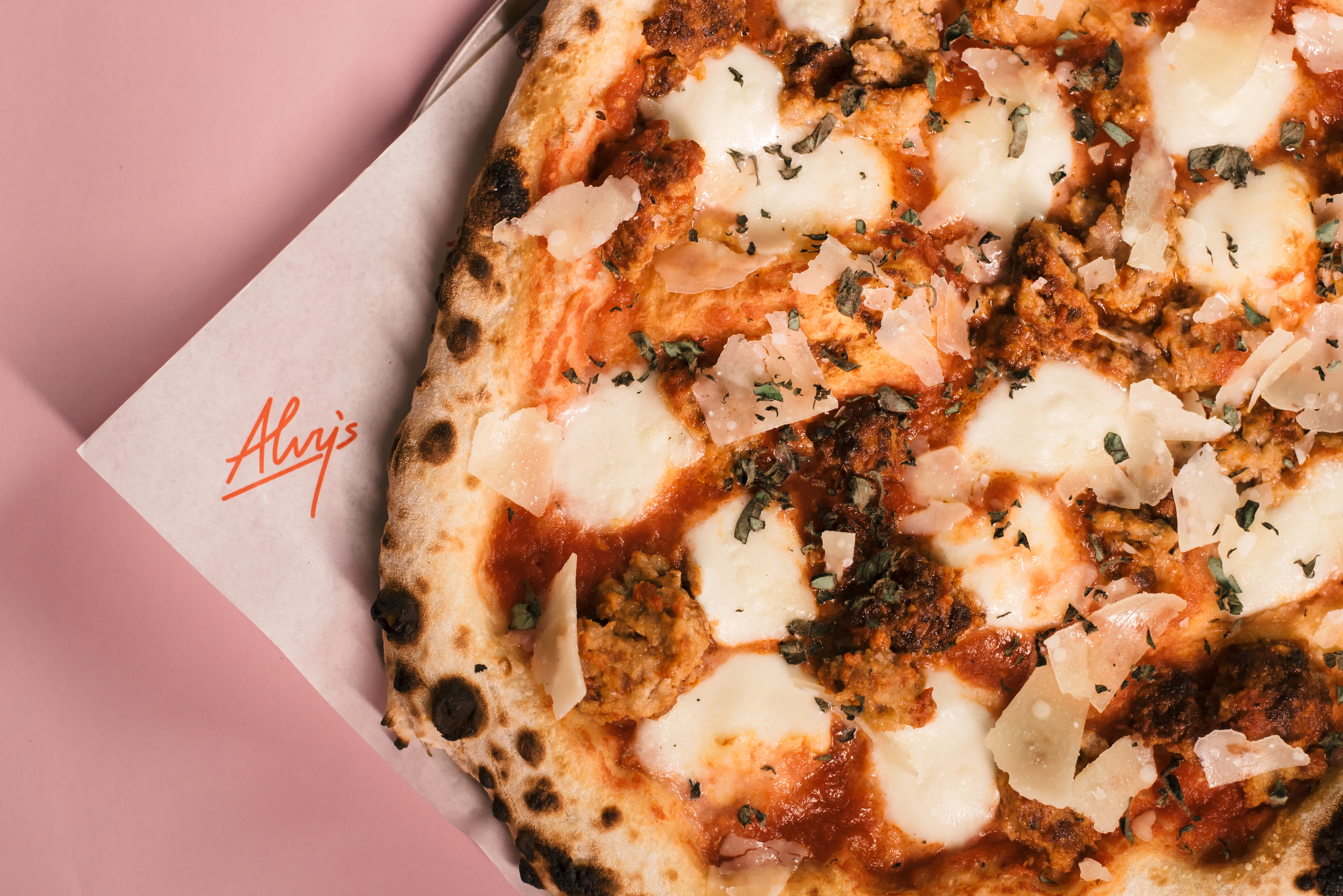 Alvy's +meatball pizza
