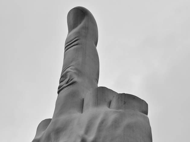 Maurizio Cattelan's L.O.V.E sculpture