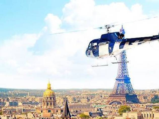 A Paris helicopter tour