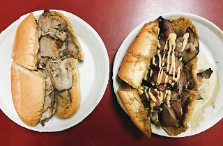 French dip sandwiches at Philippe the Original