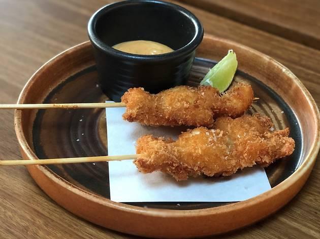 Salt and pepper squid at Zushi Barangaroo, $6