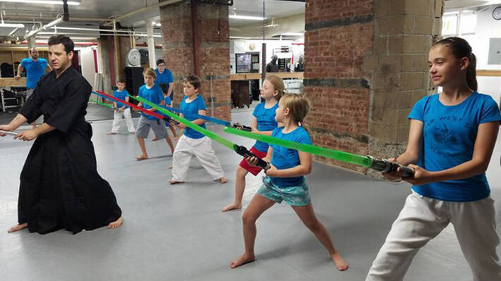 Kids and Youth Lightsaber at Sword Class NYC