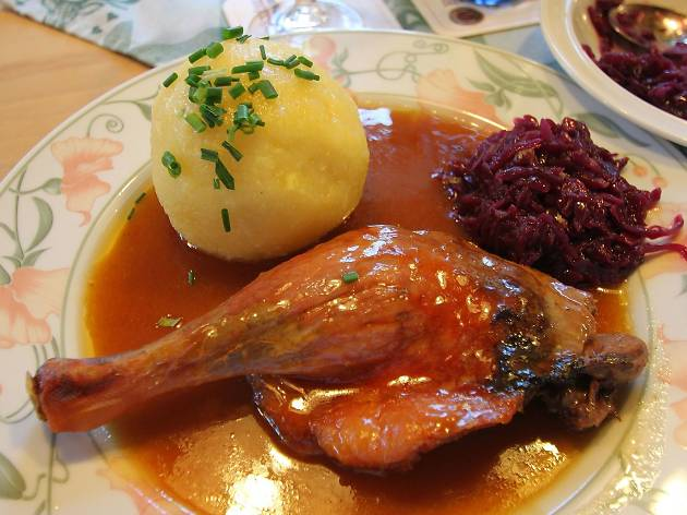 Duck, dumplings and cabbage