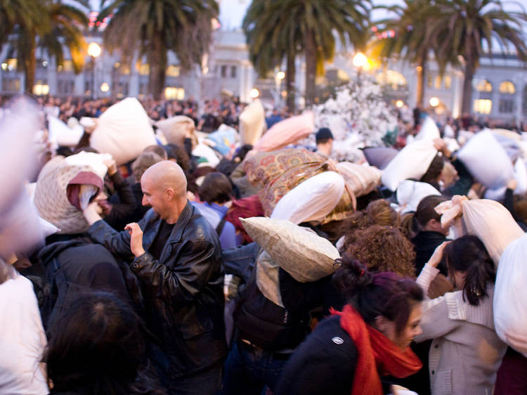 The Great San Francisco Pillow Fight