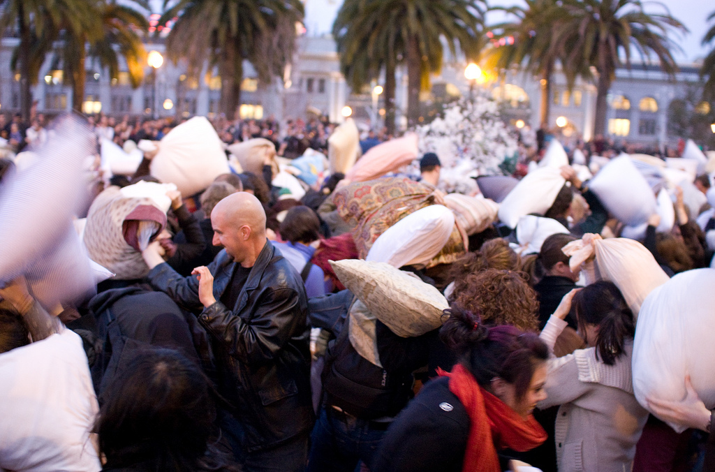 The great San Francisco Valentine's Day pillow fight