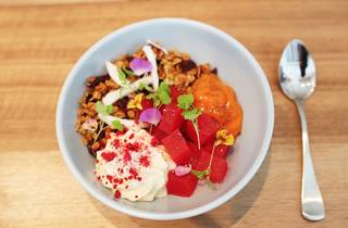 Food salad at Industry Beans Melbourne