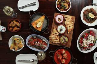 Table of food at Bahari Melbourne