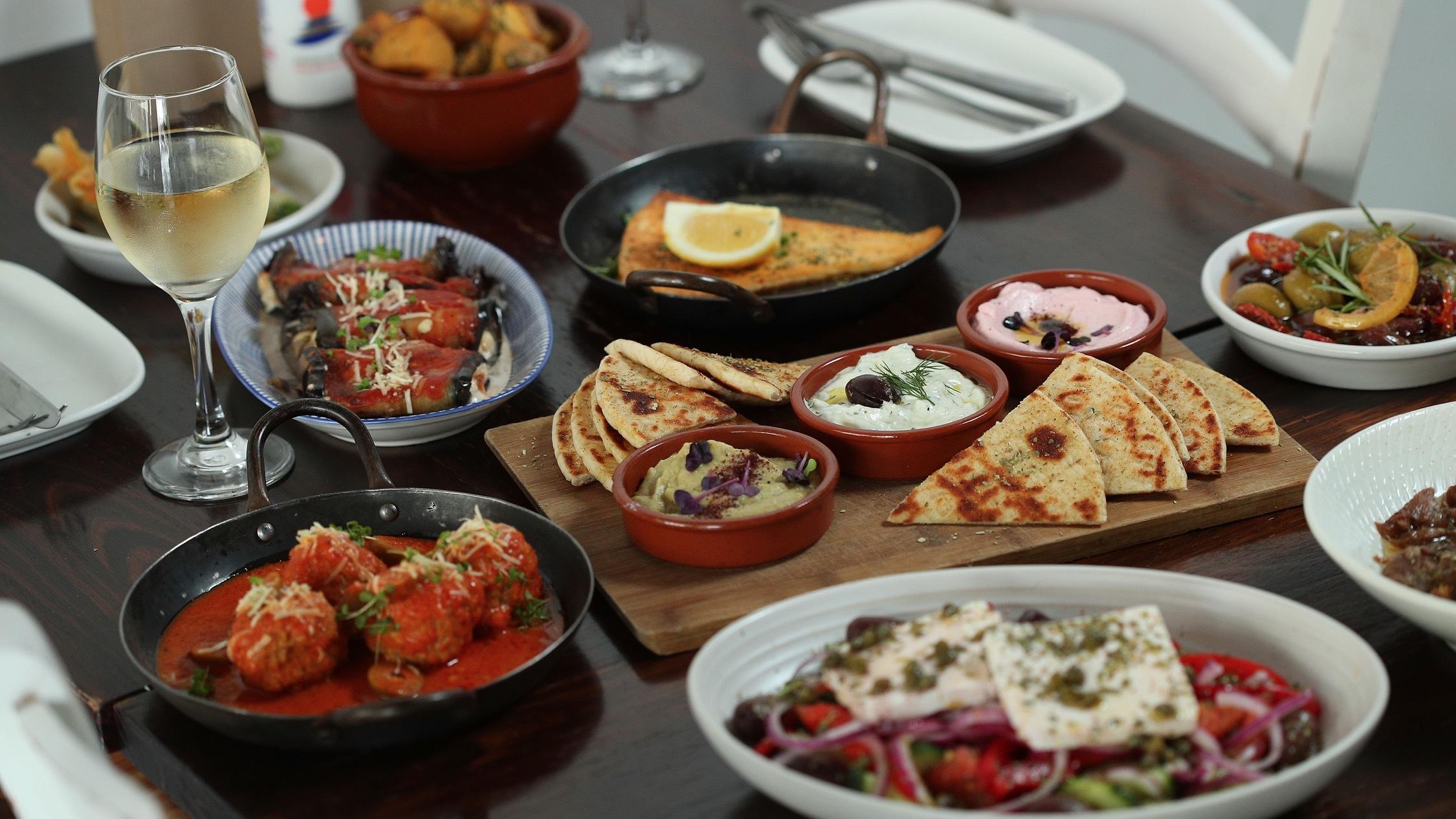 Table of food at Bahari Melbourne