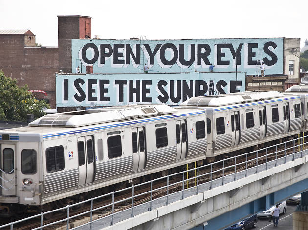 In winter and spring, Mural Arts Philadelphia leads a train tour of Stephen Powers' love letter murals in West Philadelphia