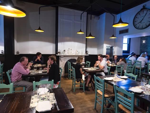 People eating inside at Epocha Carlton Melbourne