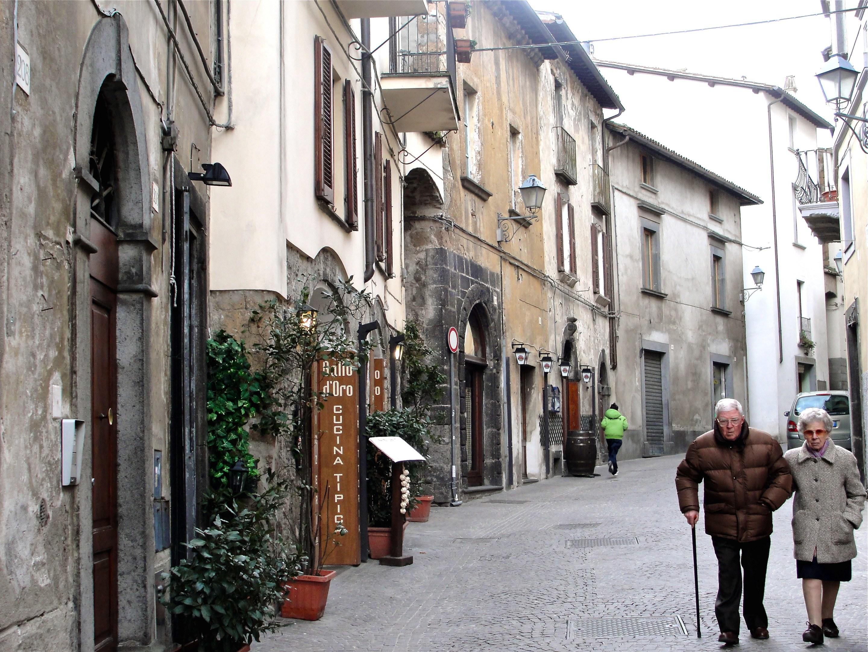Walking through Orvieto streets