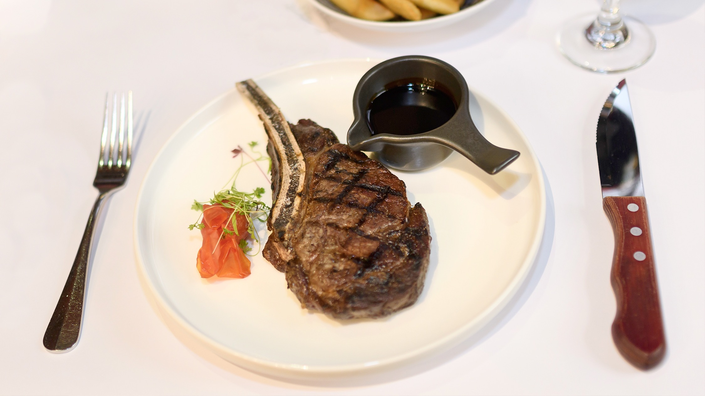 Steak and chips at Mitre Tavern Melbourne