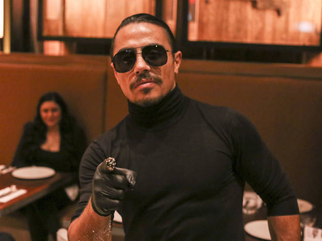 You created Salt Bae, and now you have to eat his nasty food