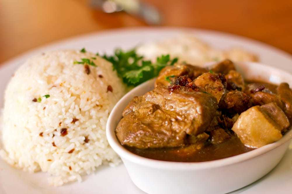 Pork Adobo at La Rose Cafe