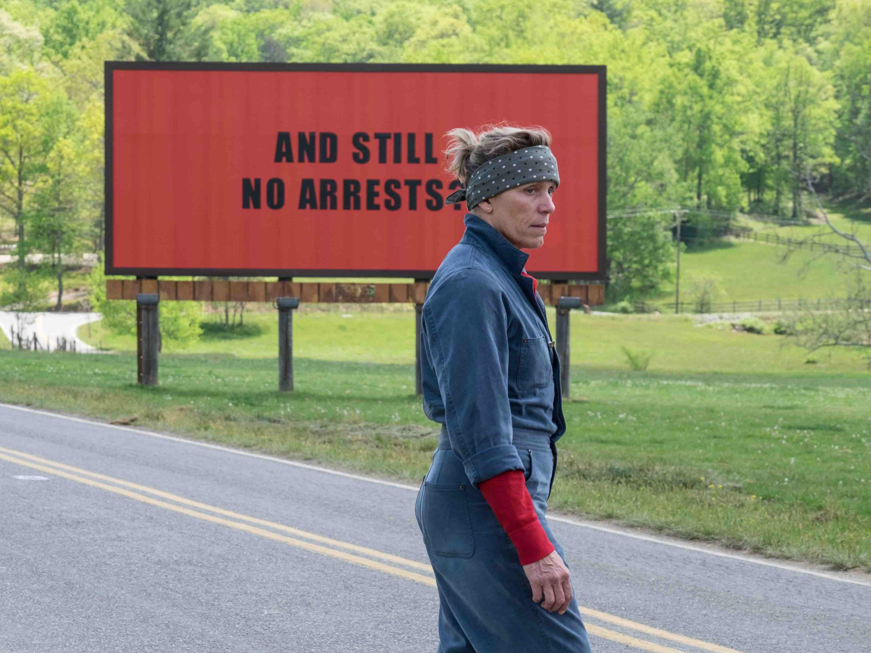 Tres anuncios por un crimen es una de las películas nominadas a Mejor película