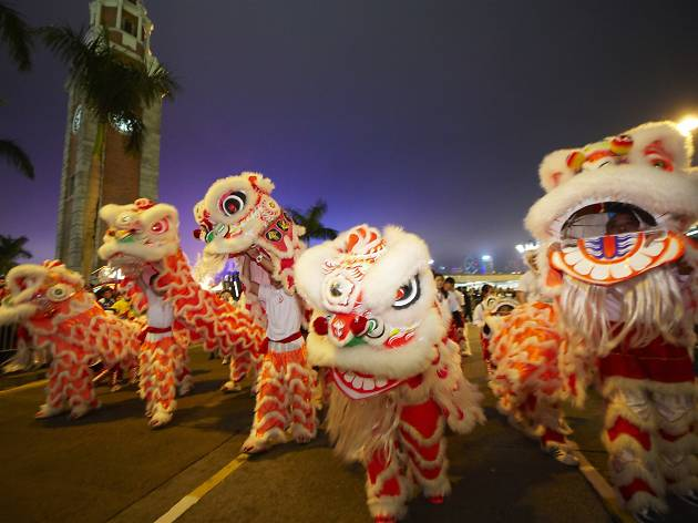 CNY parade in Tsim Sha Tsui