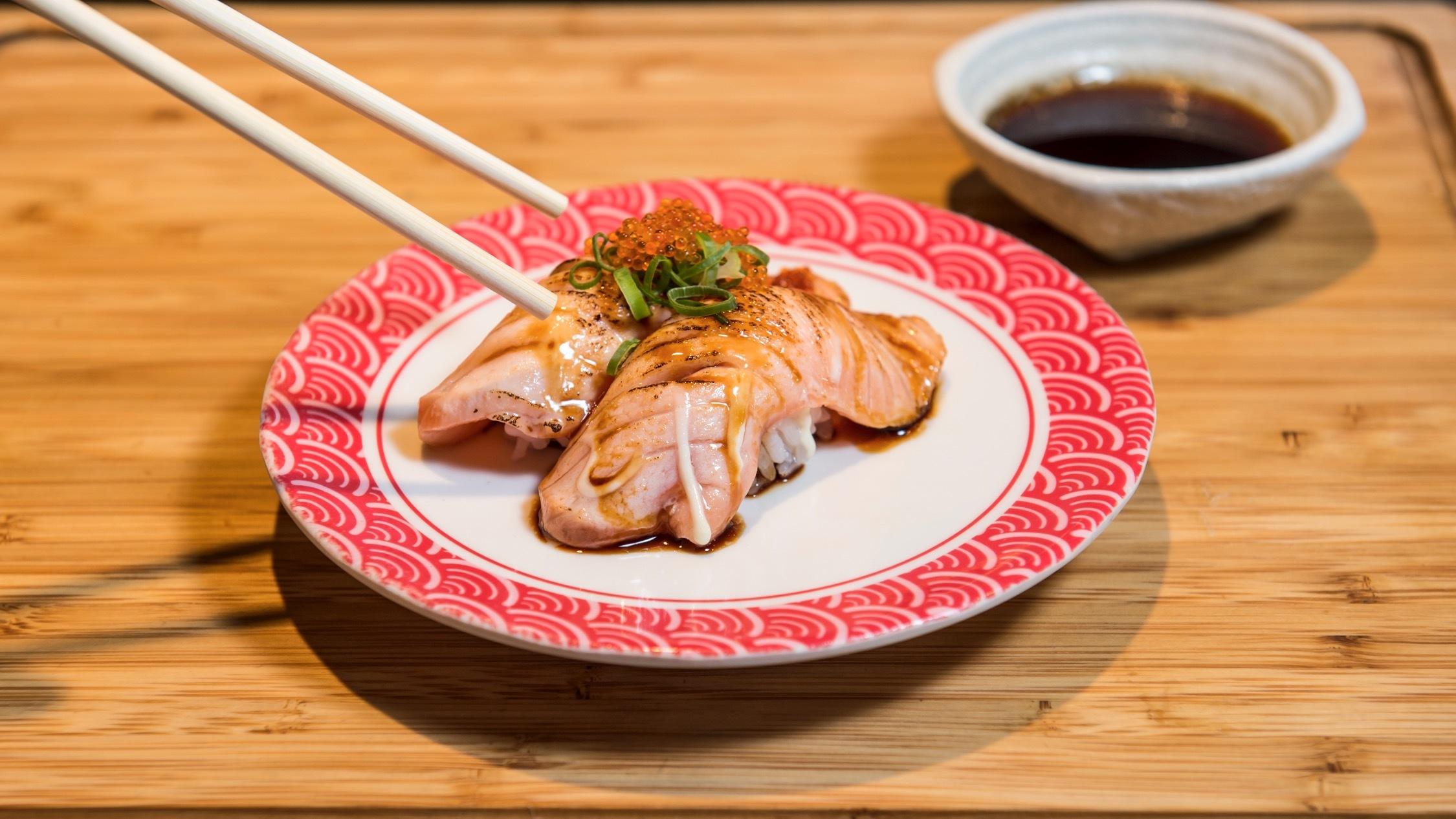 Sushi at Sushi Makoto Train Sydney