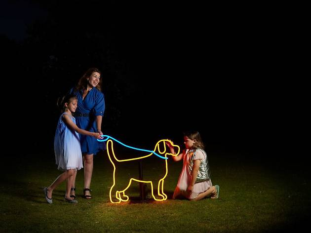 Neon Dog Park White Night Melbourne 2018 photo supplied