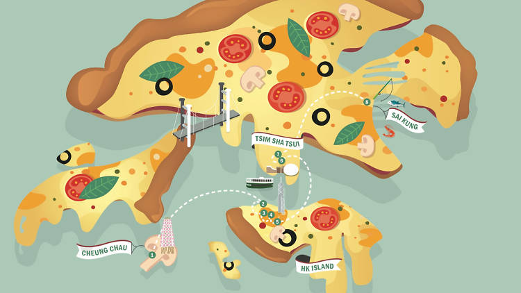 Pizza crawl map