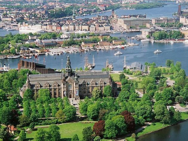 Catch a ferry to the city's greenest island, Djurgården