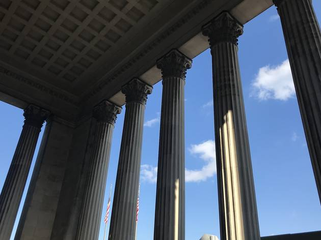 The Corinthian columns at 30th Street Station in Philadelphia