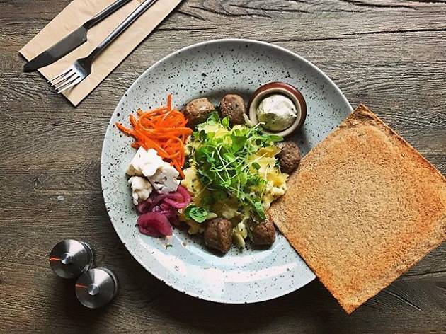 Taste Sweden's national dish at a meatballs restaurant