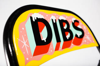 Bid on artist-designed 'dibs' chairs to mark your space (and support a good cause)