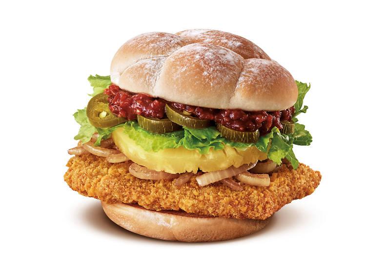 Spicy Jalapeno Chicken Burger