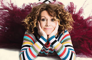 Kitty Flanagan poses for a press shot for her new show 'Smashing'