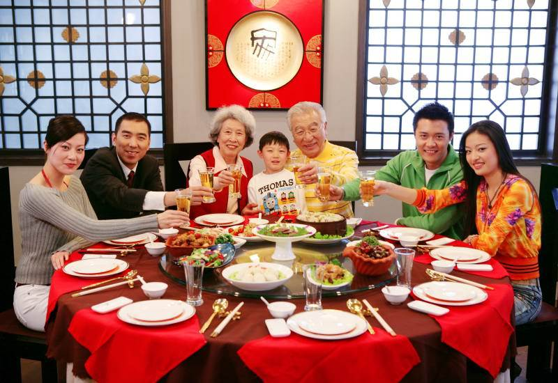 Chinese New Year family gathering
