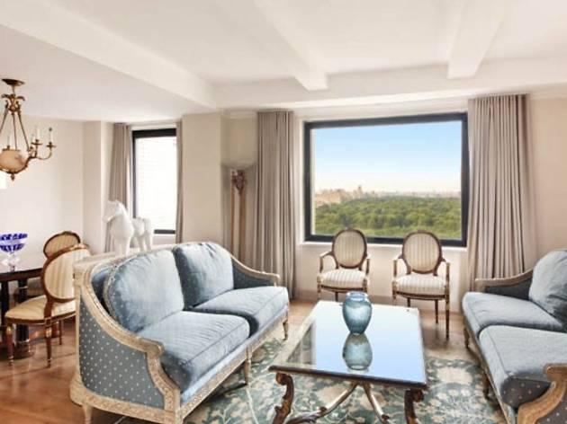 Elegant hotel room overlooking Central Park