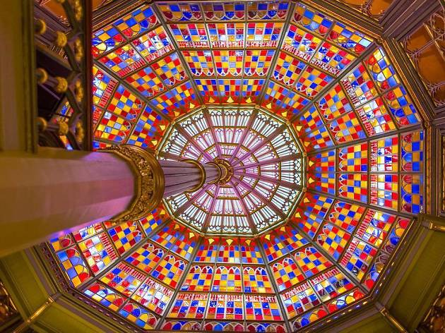 A view of the ceiling of the Old State Capitol building in Baton Rouge, Louisiana