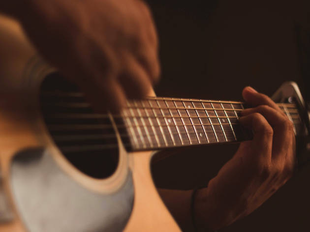 Folk music acoustic guitar