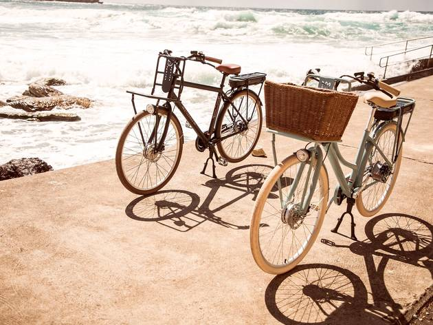Two Lekker bikes by the beach