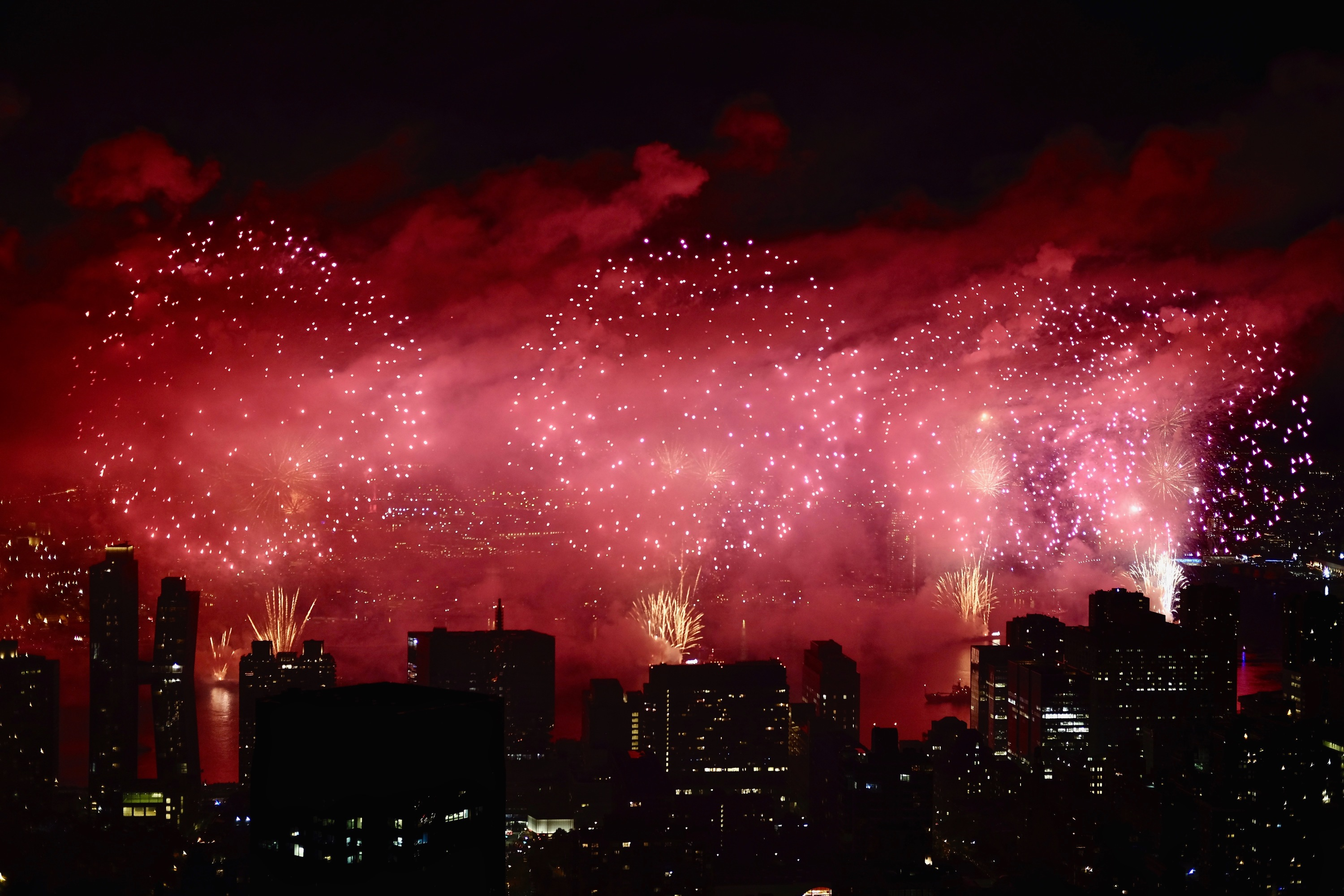 Red fireworks will light up the sky this week for the Lunar New Year