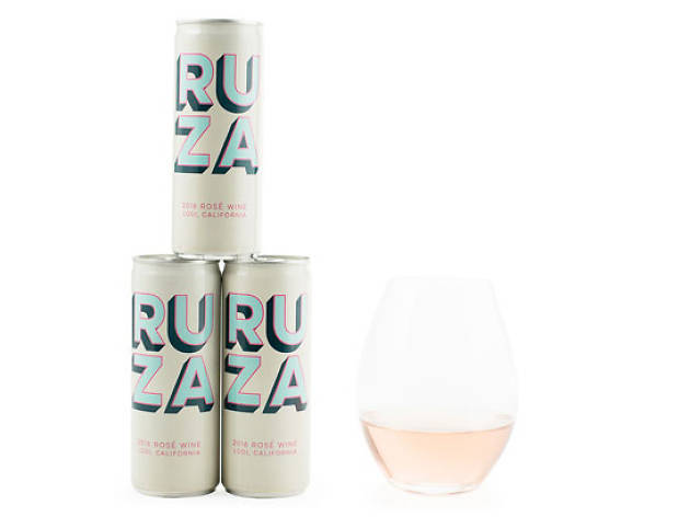 Portable cans of rosé to bring with you when you tan