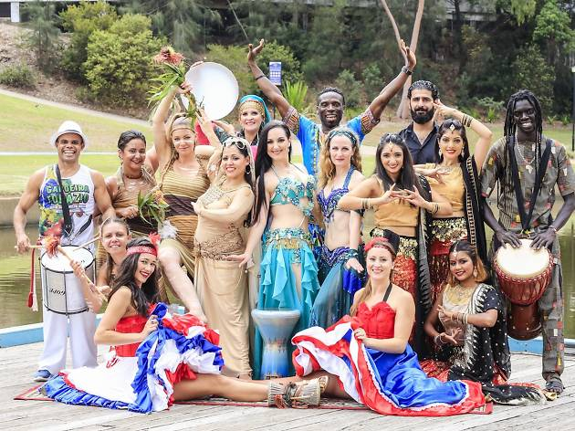 The launch of Parramasala 2018 with Minister for Multiculturalism, Ray Williams at Parramatta River.