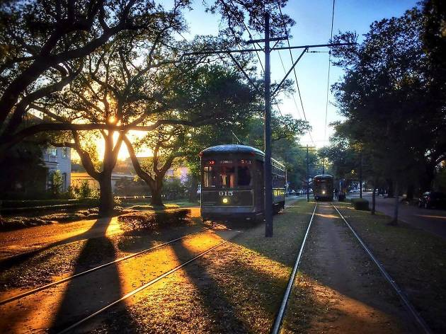 A street car in New Orleans Louisiana