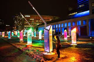 25 giant, illuminated prisms will soon welcome guests to Navy Pier