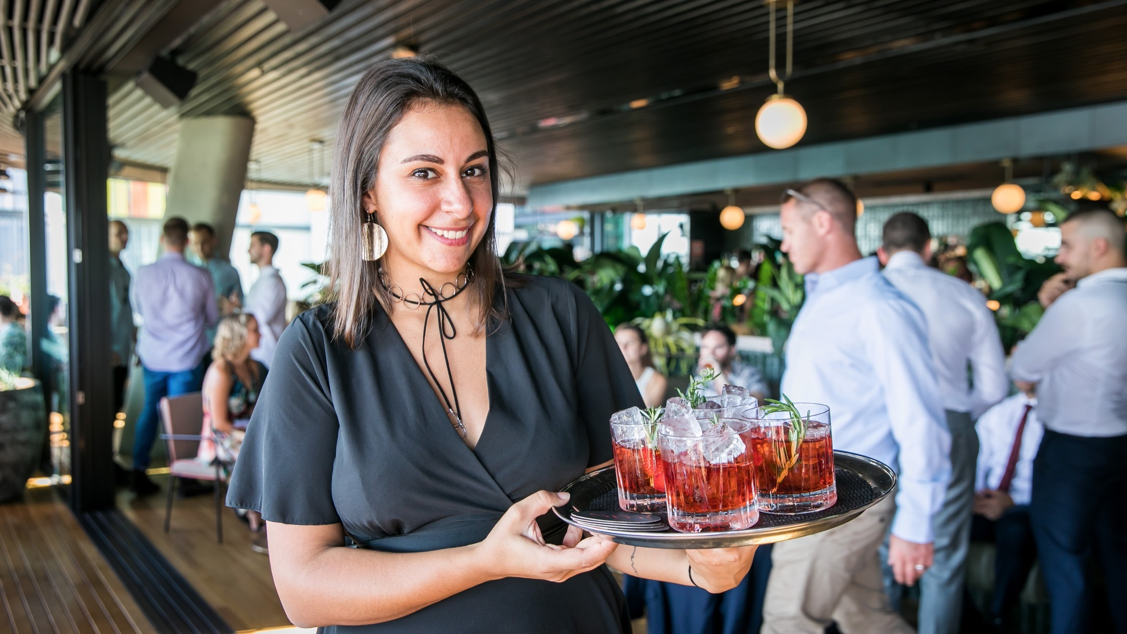 Gin cocktails at Smoke Bar Barangaroo