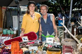 Stall holders at Rozelle Markets