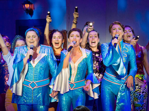 On Stage at Mama Mia the musical