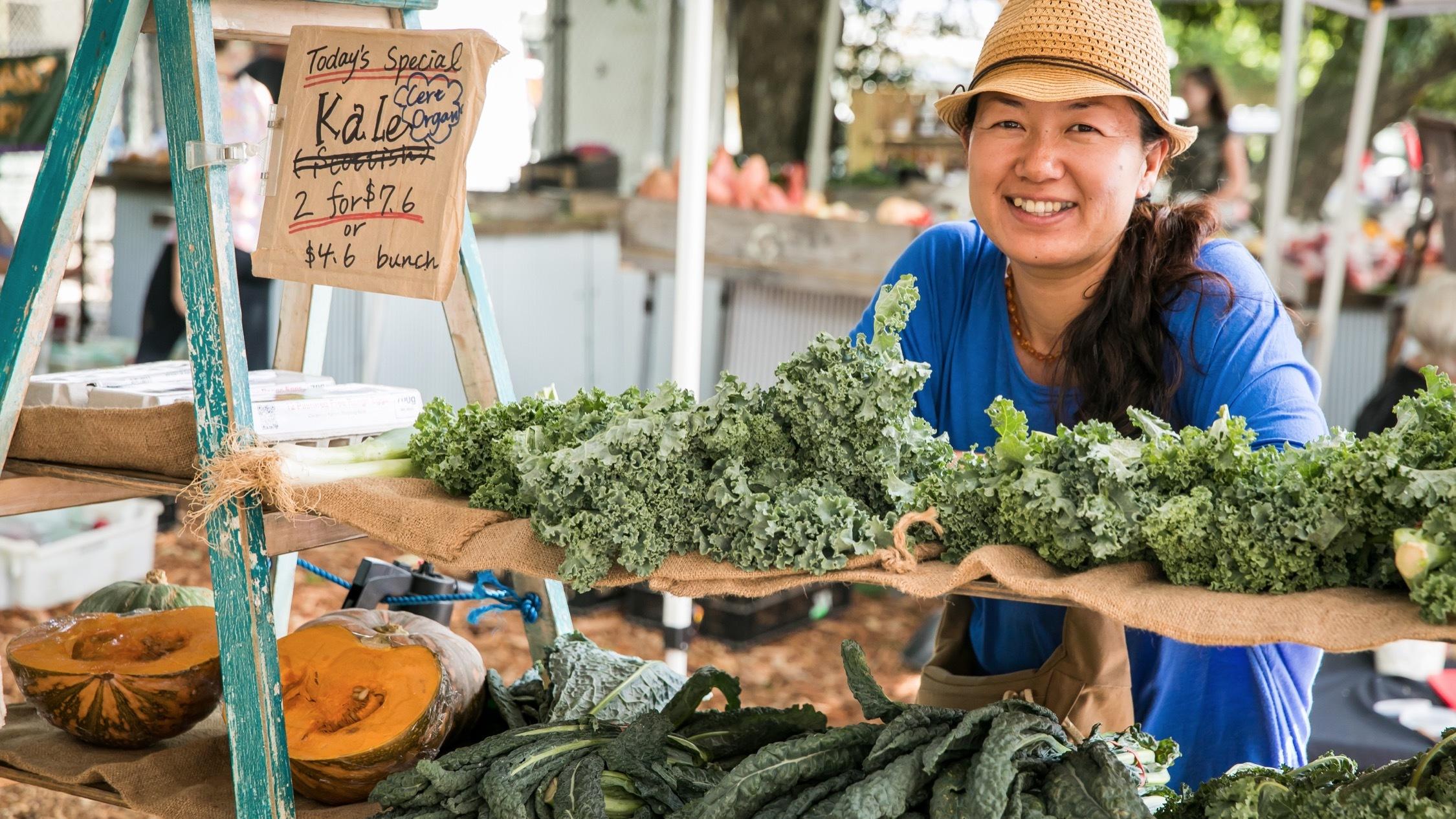 Fresh Kale at Marickville Markets