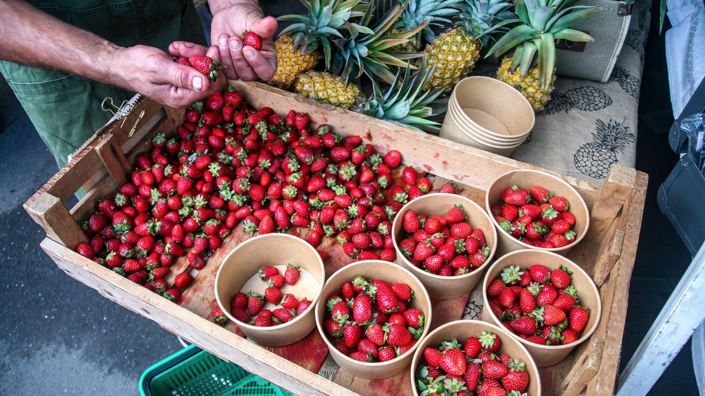 Strawberries at Orange Grove Markets