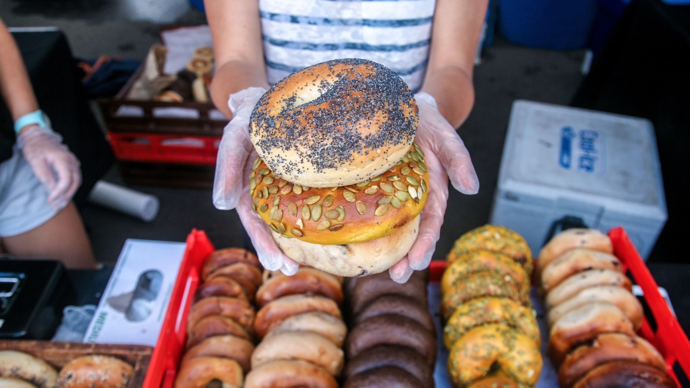 Fresh bread and pastry at Orange Grove Markets