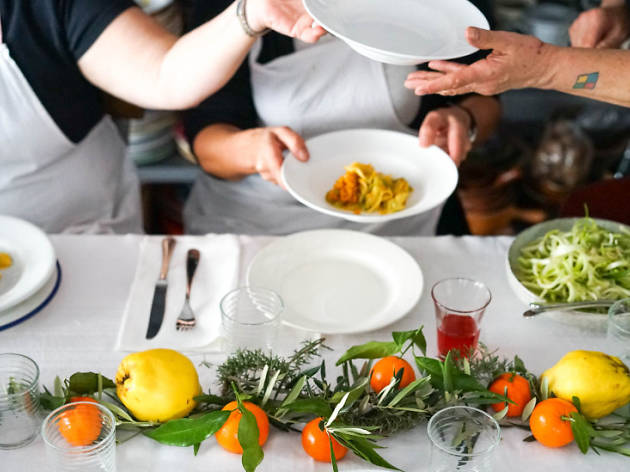 Market to Table: Join professional chefs for a market tour and cookery class