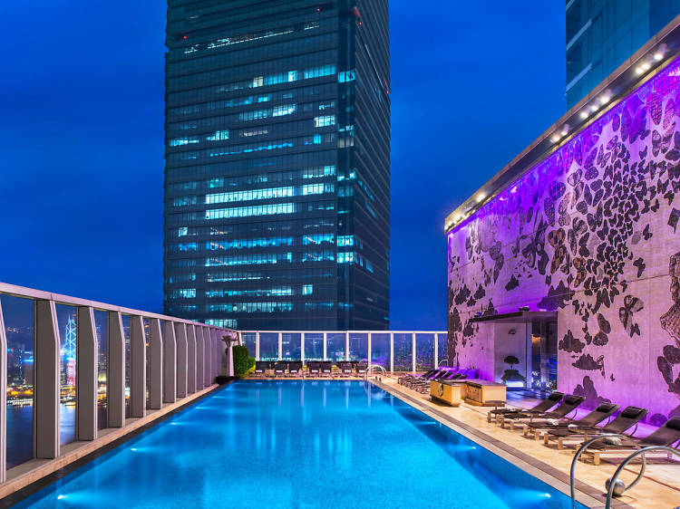 Splash about in Hong Kong's highest swimming pool