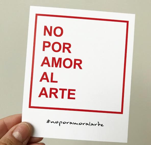 No por amor al arte