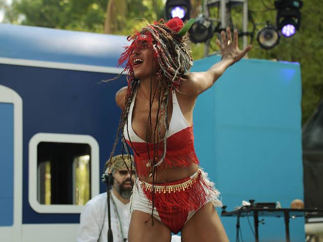 Bailarinas en el Carnaval de Bahidorá
